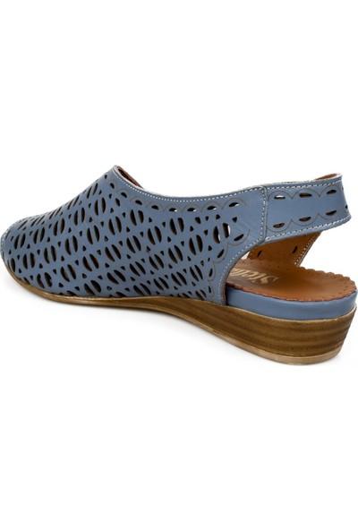 Stella 20219Z Fashion Mavi Kadın Sandalet