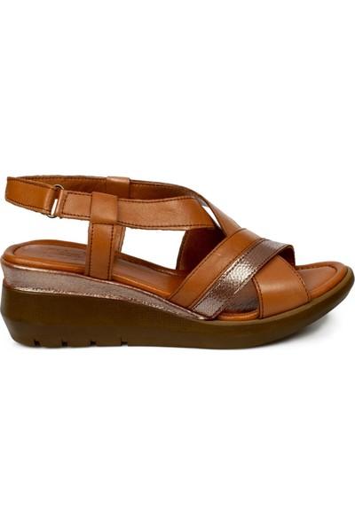 Stella 20230Z Casual Günlük Taba Kadın Sandalet