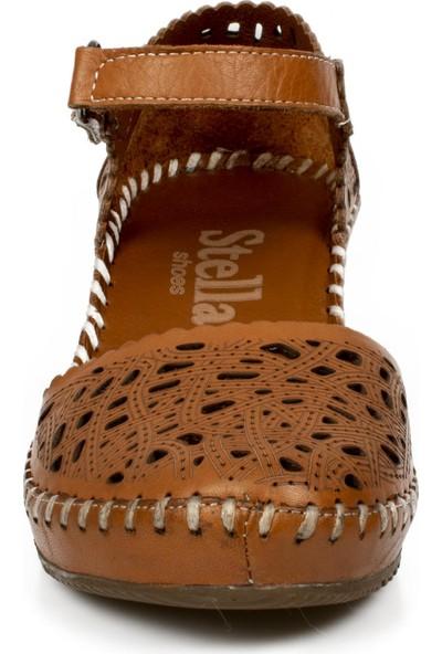 Stella 20265Z Casual Günlük Taba Kadın Sandalet