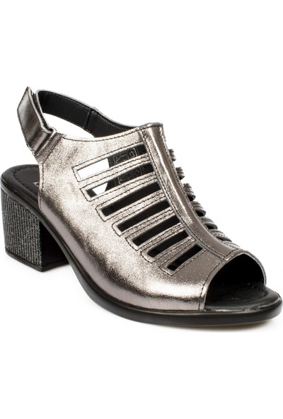 Stella 20347Z Fashion Topuklu Platin Kadın Sandalet