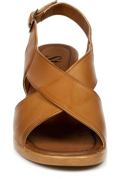 Stella 20351Z Fashion Topuklu Taba Kadın Sandalet