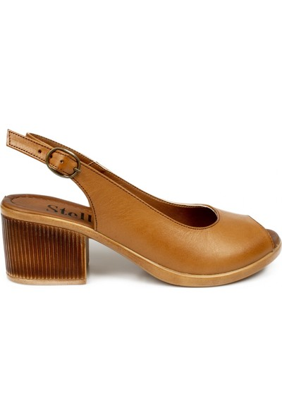 Stella 20370Z Fashion Topuklu Taba Kadın Sandalet