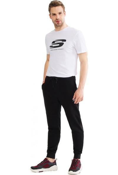 Skechers S201012 Lightweight Fleece Sweatpant Siyah Erkek Giyim