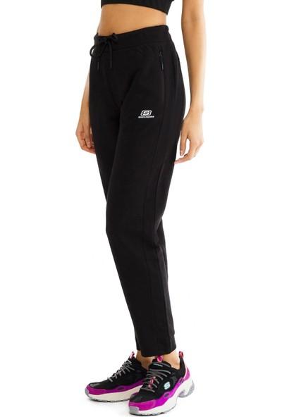 Skechers S201042 Lightweight Fleece Sweatpant Siyah Kadın Giyim