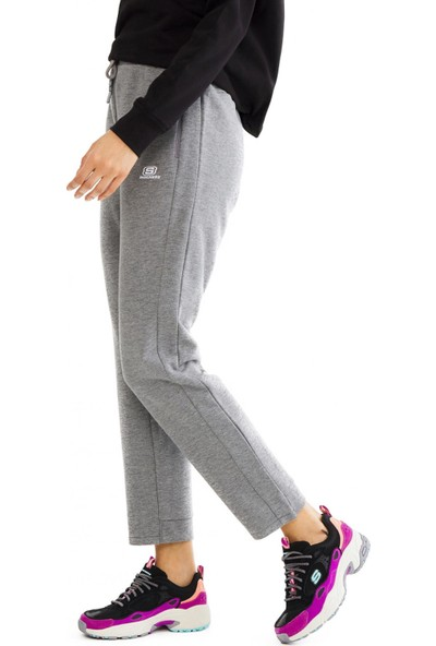 Skechers S201042 Lightweight Fleece Sweatpant Gri Kadın Giyim