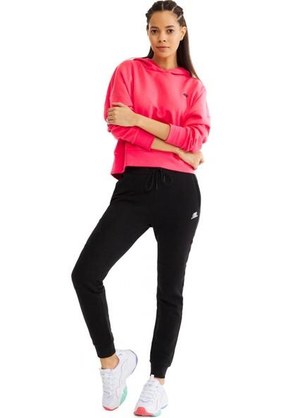 Skechers S201044 Lightweight Fleece Sweatpant Siyah Kadın Giyim