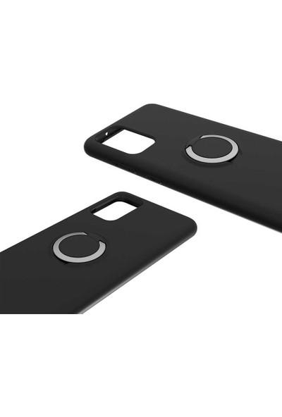 Teleplus Samsung Galaxy S20 Ultra Kılıf Lüks Tpu Mat Yüzüklü Silikon + Tam Kapatan Ekran Koruyucu Yeşil