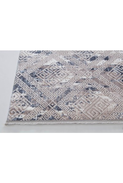 Aksu Kaymaz Taban Halı Püsküllü 120 x 180 cm Lois Mavi