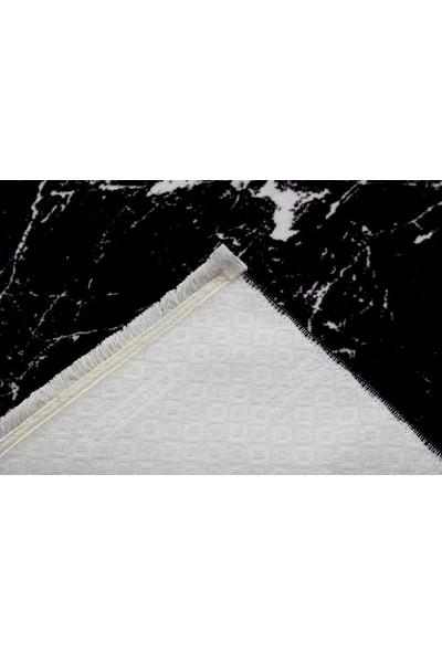 Aksu Kaymaz Taban Halı Püsküllü 150 x 233 cm Amor Siyah
