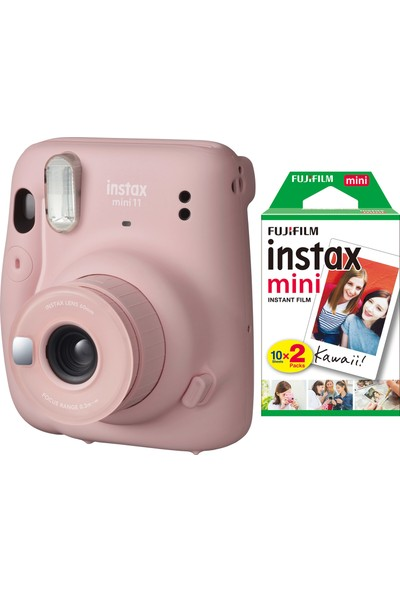 Fujifilm Instax Mini 11 Pembe Fotoğraf Makinesi 20'li Film