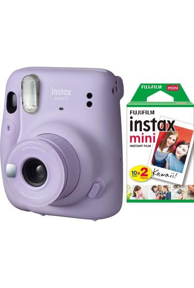 Fujifilm Instax Mini 11 Lila Fotoğraf Makinesi 20'li Film