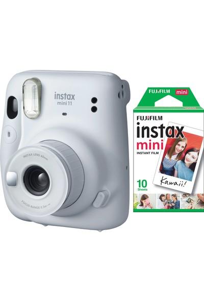 Fujifilm Instax Mini 11 Beyaz Fotoğraf Makinesi 10'lu Film