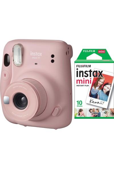 Fujifilm Instax Mini 11 Pembe Fotoğraf Makinesi 10'lu Film