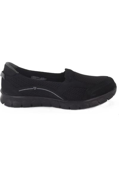 Forelli Siyah Kadın Ayakkabı 61015