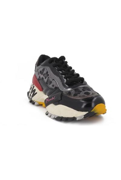 Messimod Siyah Deri Kadın Spor Ayakkabı H19K3427