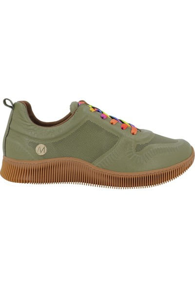 Messimod Yeşil Deri Kadın Ayakkabı 3520