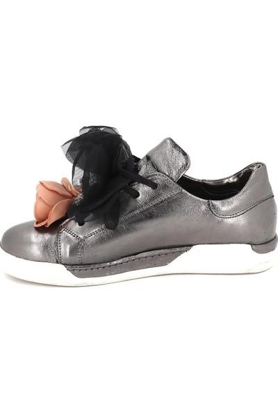 Roe Doe Platin Deri Kadın Spor Ayakkabı 7427-15