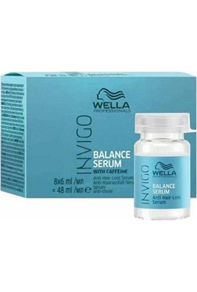 Wella Invigo Balance Kafeinli Anti-Hairloss Saç Serumu 8 x 6 ml