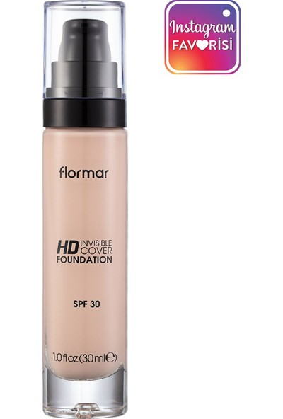 Flormar Invisible Hd Cover Foundation Pink Porcelain Fondöten 010