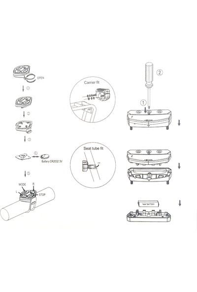 Hsgl Bisiklet Wireless Ledli Sinyal & Stop Lampa XC-199