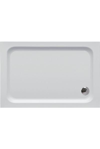 Cybele Sarp Di̇kdörtgen Monoblok Duş Teknesi̇ 70 x 150 cm Beyaz
