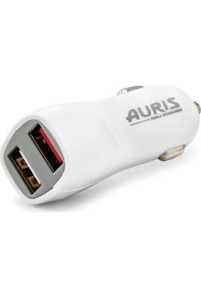 Auris Araba Çakmaklık Şarj Aleti USB Şarj Soketi 3.1A Hızlı Şarj