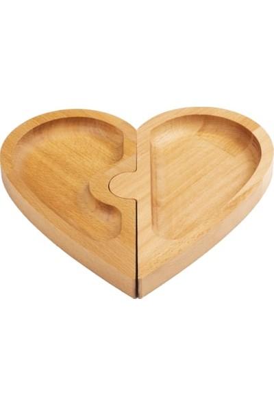 Dharmawood Doğal Ahşap Kalp Çerezlik