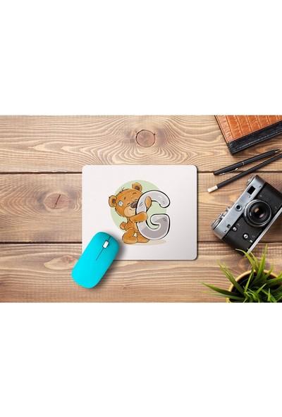 Wuw Ayıcık Desenli G Harfli Mouse Pad