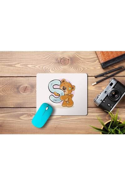 Wuw Ayıcık Desenli S Harfli Mouse Pad
