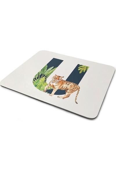 Wuw Tropikal Desenli U Harfli Mouse Pad