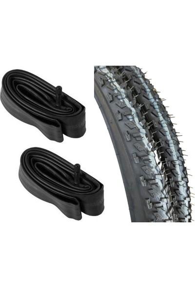 Dr.bıke 26X1.95 Dişli 26 Jant Bisiklet Dış Lastik ve Iç Lastik Seti Çift