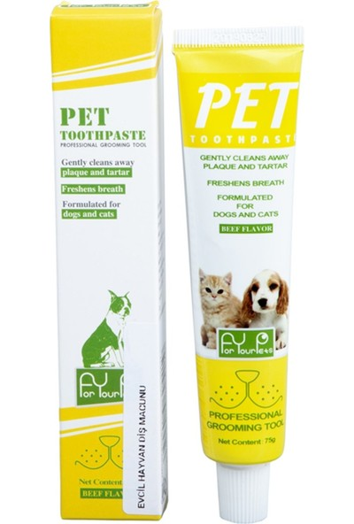 For Your Pets Biftek Aromalı Pet Diş Macunu 75 gr
