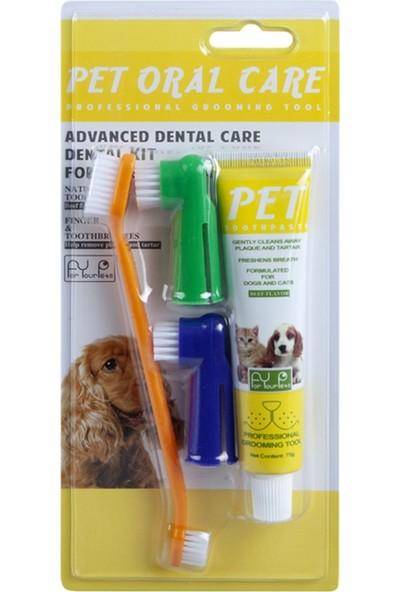For Your Pets Biftek Aromalı Pet Diş Temizleme Seti