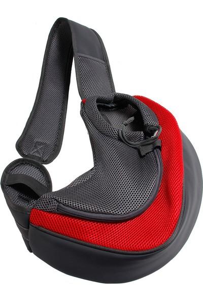 Yukka Köpek Taşıma Omuz Çantası Kılıflı Kırmızı