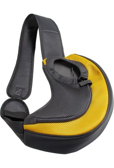 Yukka Köpek Taşıma Omuz Çantası Kılıflı Sarı