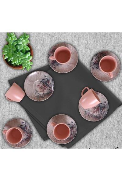 Keramika Magıc Silindir 6 Kişilik Kahve Fincan Takımı 17633 A