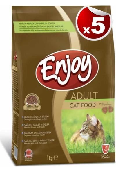 Enjoy Tavuk Etli Kedi Maması 1 kg x 5 Adet