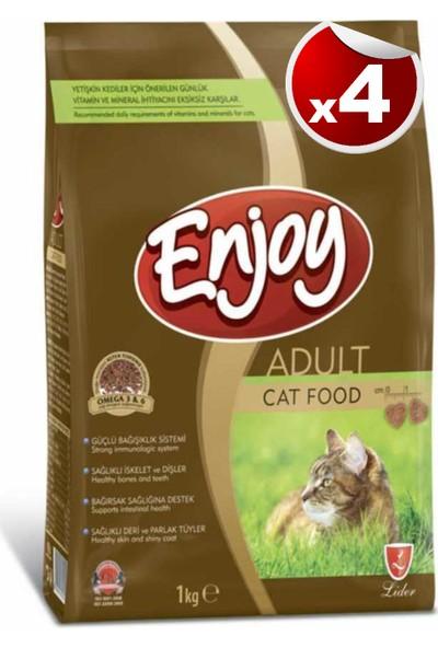 Enjoy Tavuk Etli Kedi Maması 1 kg x 4 Adet