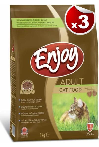 Enjoy Tavuk Etli Kedi Maması 1 kg x 3 Adet