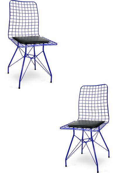 Hepsi Home Tel Sandalye 2'Lı Mavi