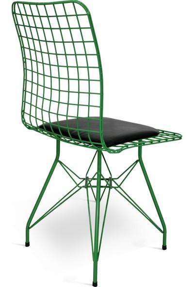 Hepsi Home Tel Sandalye Yeşil
