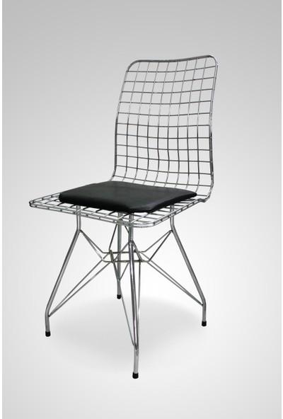 Hepsi Home Tel Sandalye Gümüş