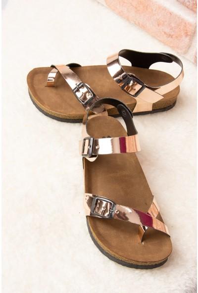 Fox Shoes Bakır Kadın Sandalet H777786034