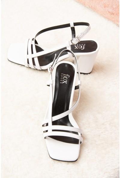 Fox Shoes Beyaz Kadın Topuklu Ayakkabı H922741009
