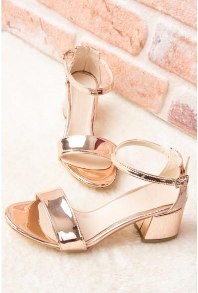 Fox Shoes Bronz Kadın Topuklu Ayakkabı F283286534