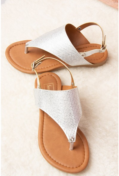 Fox Shoes Gümüş Kadın Sandalet H713010814