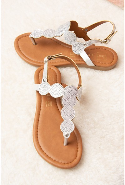 Fox Shoes Gümüş Kadın Sandalet H713011414