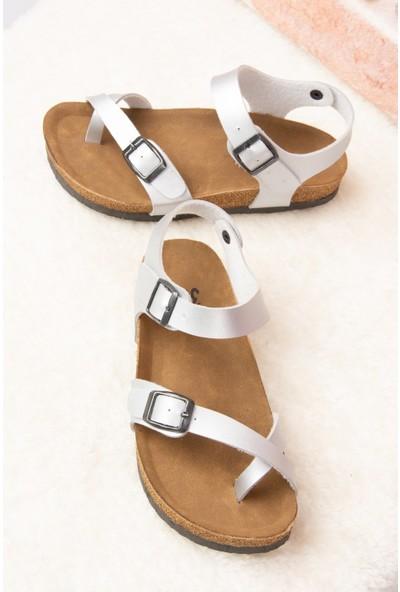 Fox Shoes Gümüş Kadın Sandalet H777786009