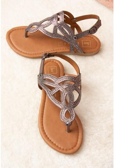 Fox Shoes Platin Kadın Sandalet H713011514