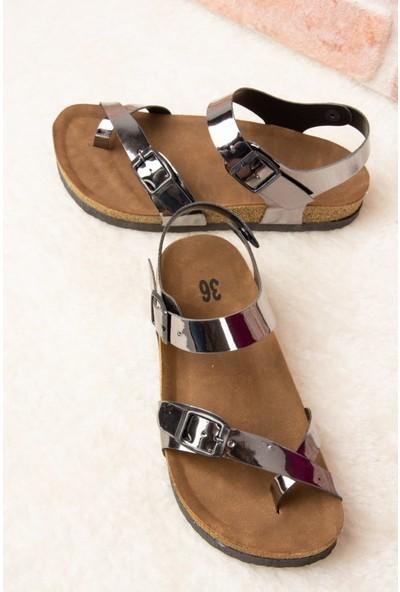 Fox Shoes Platin Kadın Sandalet H777786034